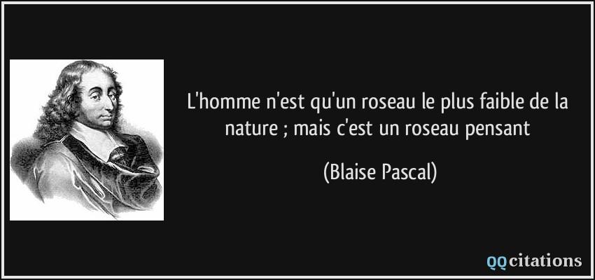 uitspraak van Blaise Pascal (1623-1662)